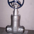 bevel gear butt-welded gate valve